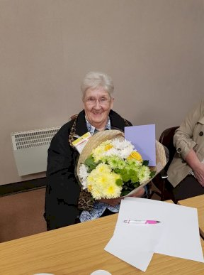 Charity Shop Volunteer retires age 81